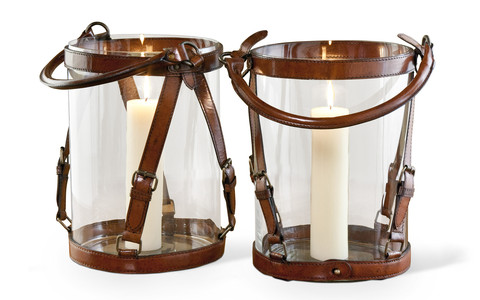 Fontana's Leather Lanterns design by Interlude Home