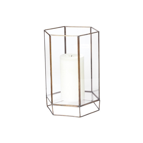 Small Glass Oriel Hurricane design by Lazy Susan
