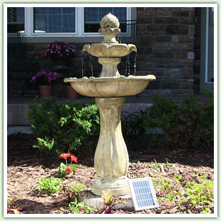 Tiered Solar Powered Fountains