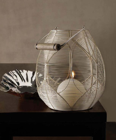 Silver Wire Palm Basket design by Lazy Susan