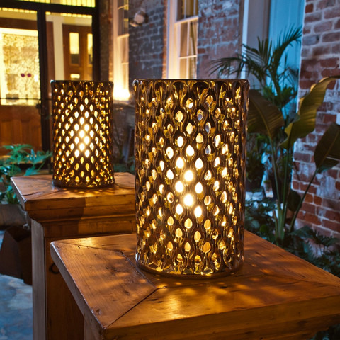 Argyle Round Shadow Lantern design by BrasaFire