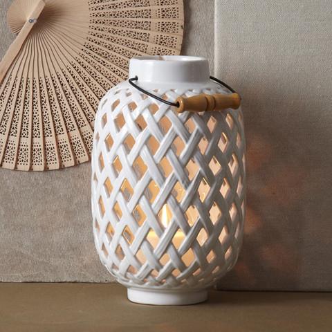 Woven Ceramic Lantern