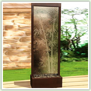 Outdoor Fountains with Glass