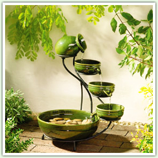 Cascade Solar Fountains