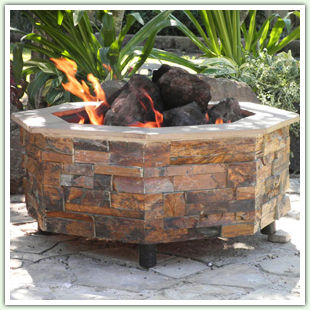 Tile and Stone Fire Pits